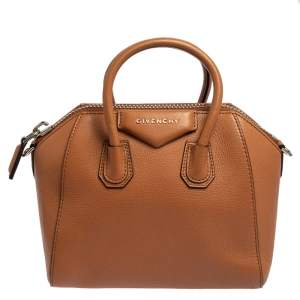Givenchy Brown Leather Mini Antigona Satchel