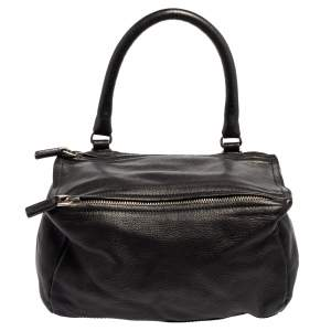 Givenchy Black Leather Small Pandora Shoulder Bag