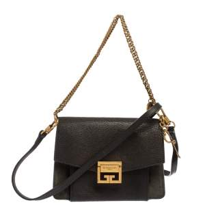 Givenchy Black Leather GV3 Shoulder Bag