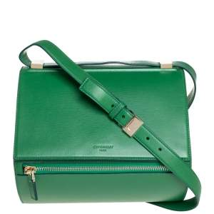 Givenchy Green Leather Medium Pandora Box Bag