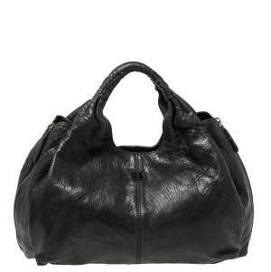 Givenchy Black Leather Elschia Billy Hobo