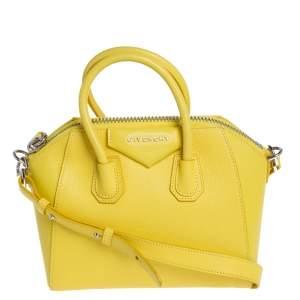 Givenchy Yellow Leather Mini Antigona Satchel
