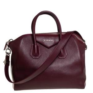 Givenchy Burgundy Leather Medium Antigona Satchel
