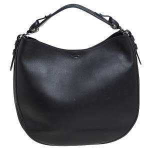 Givenchy Black Leather Medium Obsedia Hobo