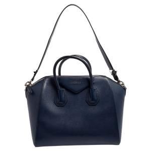 حقيبة جيفنشي أنتيغونا جلد أزرق متوسطة