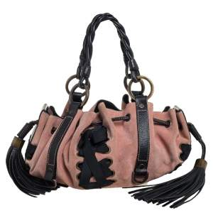 Givenchy Pink/Blue Suede and Leather Pumpkin Corset Bag