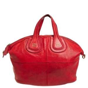 Givenchy Red Leather Medium Nightingale Satchel
