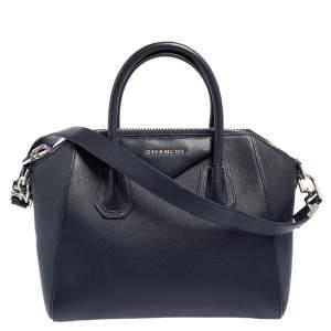 Givenchy Navy Blue Leather Small Antigona Satchel