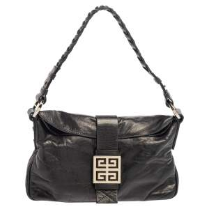 Givenchy Black Leather Baguette