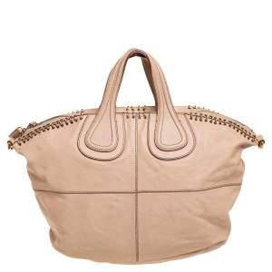 Givenchy Beige Leather Ring Embellished Nightingale Bag