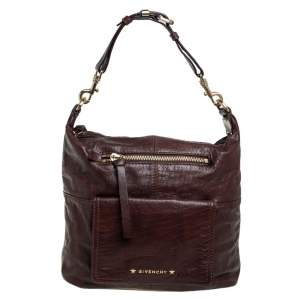 Givenchy Dark Brown Leather Hobo