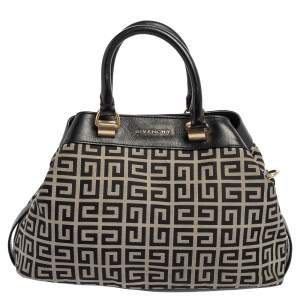 Givenchy Black/White Monogram Canvas and Leather Tote