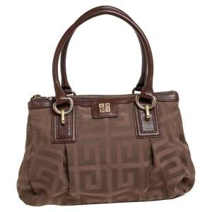 Givenchy Brown Signature Fabric and Leather Tote