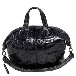 Givenchy Black Patent Leather Medium Nightingale Tote