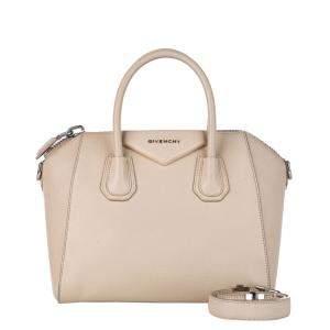 Givenchy Beige Leather Antigona Satchel Bag