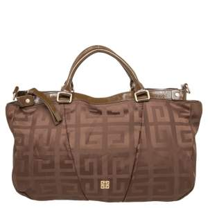 Givenchy Brown Monogram Canvas And Patent Leather Zip Tote