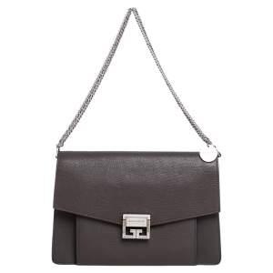 Givenchy Brown Leather Medium GV3 Shoulder Bag