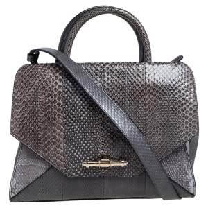 Givenchy Grey Snakeskin Obsedia Tote