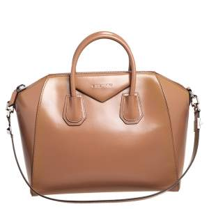 Givenchy Beige Leather Medium Antigona Satchel