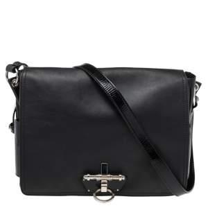 Givenchy Black Leather Obsedia Flap Shoulder Bag