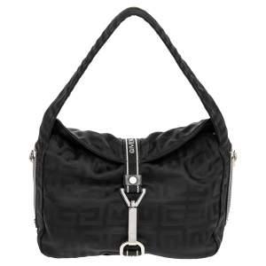 Givenchy Black Monogram Nylon Hobo