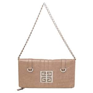 Givenchy Beige Leather Wallet On Chain