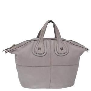 Givenchy Grey Leather Medium Nightingale Satchel