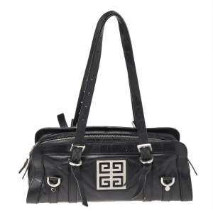 Givenchy Black Leather Zip Shoulder Bag
