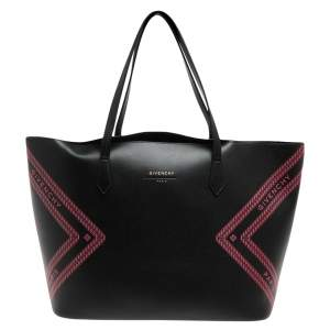 Givenchy Black/Pink Leather Wing Shopper Tote