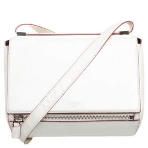 Givenchy White Leather Medium Pandora Box Bag