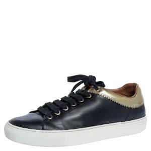 Givenchy Black Leather Low Top Sneakers Size 37
