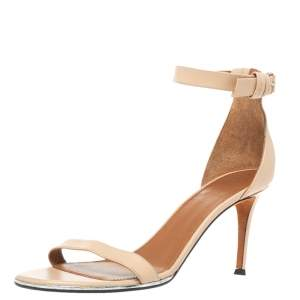 Givenchy Beige Leather Ankle Strap Sandals Size 39