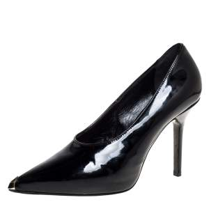 Givenchy Black Patent Leather Pointed Toe Pumps Size 39.5