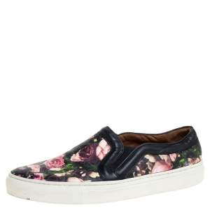 Givenchy Multicolor Floral Print Leather Skate Slip On Sneakers Size 35