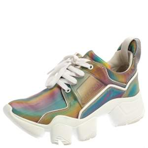 Givenchy Multicolor Polyurethane Jaw Low Top Sneakers Size 38