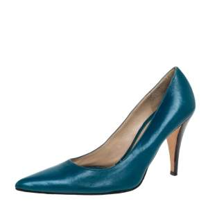 Givenchy Blue Leather Pointed Toe Pumps Size 36