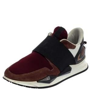 حذاء رياضي جيفنشي أكتيف رانر سويدي وقماش إلاستيك متعدد الألوان مقاس 38