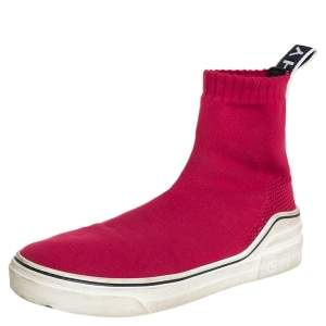 Givenchy Red Knit Fabric George V High Top Sneakers Size 37