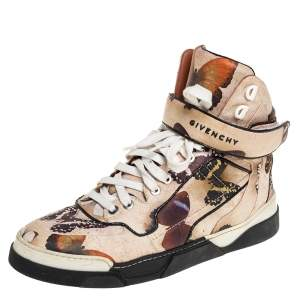 Givenchy Multicolor Butterfly Print Leather Tyson High Top Sneakers Size 37.5
