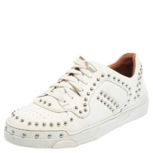 Givenchy White Leather Studded Tyson Low Top Sneakers Size 38