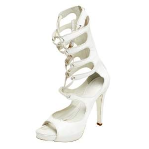 Givenchy White Leather Gladiator Sandals Size 39