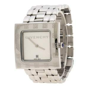 Givenchy Silver White Apsaras 1558962 Square Women's Wristwatch 31 mm