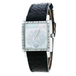 Givenchy Mother of Pearl Stainless Steel Diamonds GV5214L Women's Wristwatch 31 mm