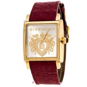 Givenchy Gold Plated Stainless Steel GV.5214M Unisex Wristwatch 38 mm