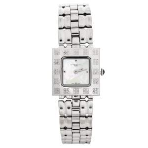 Givenchy Mother Of Pearl Stainless Steel Apsaras 1558962 Square Women's Wristwatch 25 mm