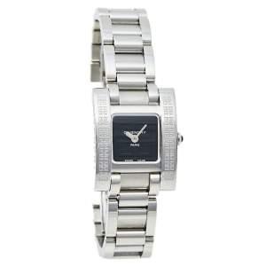 ساعة يد نسائية جيفنشي كواتز كولوس ستانلس ستيل سوداء 23 مم