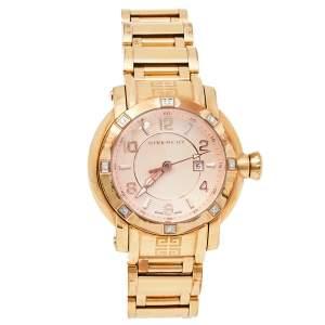 ساعة يد نسائية جيفنشي جي ڨي.5202أل ألماس و ستانلس ستيل مطلي بالذهب الأصفر 36 مم