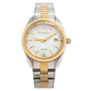 Givenchy Mother Of Pearl Two Tone Stainless Steel Eleven GY100062S09 Women's Wristwatch 35 mm