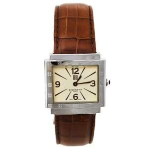 ساعة يد نسائية جيفنشي نيو ابساراس 1558962 جلد و ستانلس ستيل كريميه 29 مم