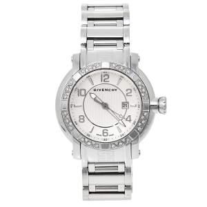 ساعة يد نسائية جيفنشي جي ڨي.5202أل ألماس و ستانلس ستيل فضية 36 مم